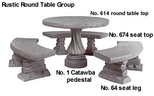 Aluminum Molds For Concrete Table Tops Table Benches Seating From - Round concrete table with benches